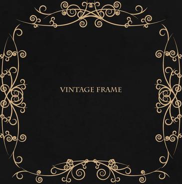 vintage frame swirl