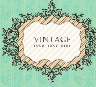 vintage frame vector background art