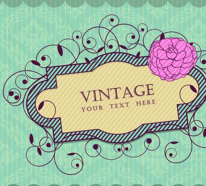 vintage frame vector background art
