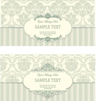 vintage frame with ornate background vector