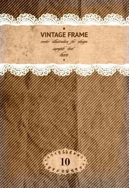 vintage frame with scrap background vector