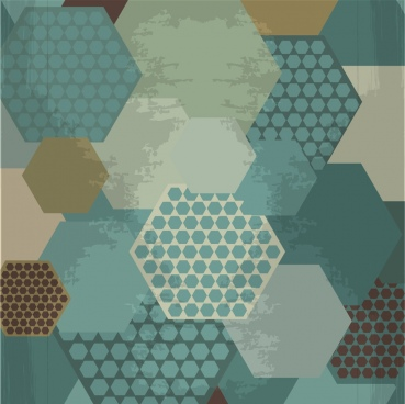 vintage geometric background hexagon collection decoration