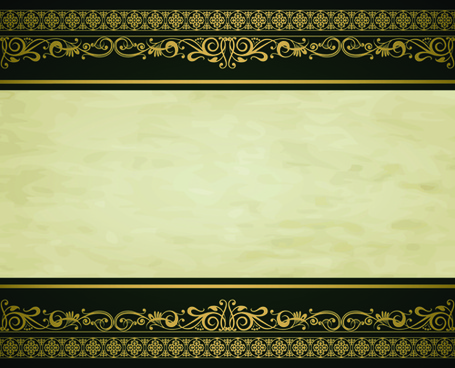 vintage gold border background vector