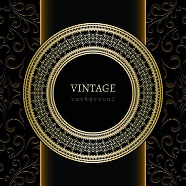 vintage golden backgrounds vector