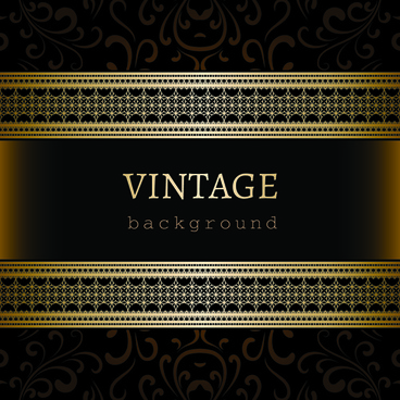 vintage golden backgrounds vector