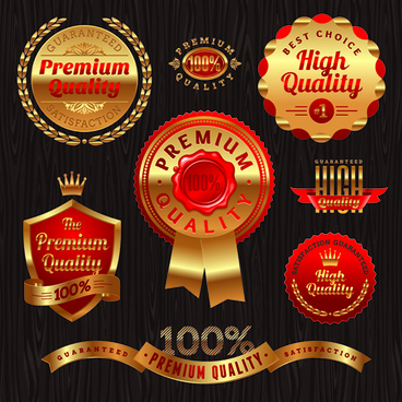 vintage golden labels vector