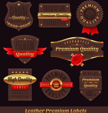 vintage golden labels vector
