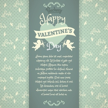 vintage greeting card for valentines day