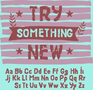 vintage grunge alphabet font vector