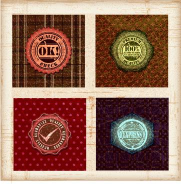 vintage grunge badge label