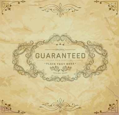 vintage guaranteed certificate frame