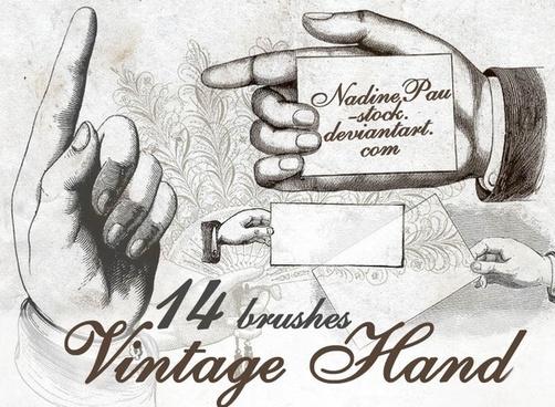 Vintage hands