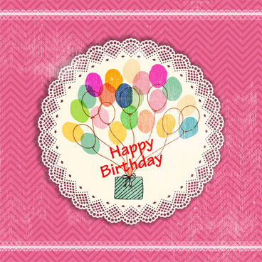 vintage happy birthday card design