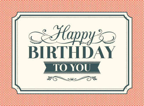 Vintage Happy Birthday Card Vector