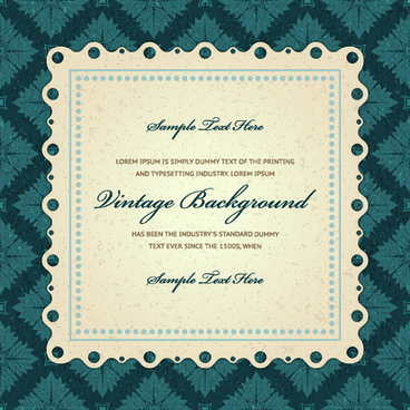 vintage invitations card background vector