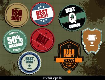 vintage label and badges design elements