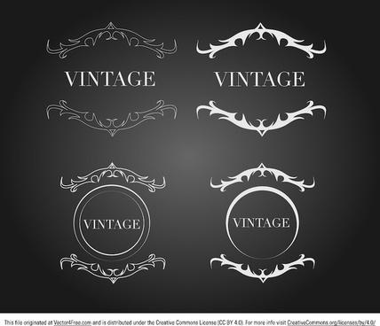vintage label crests