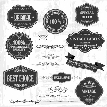 Vintage label shapes free vector download (24,921 Free vector) for