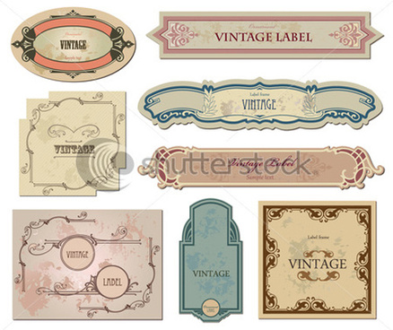 vintage labels art vector graphic