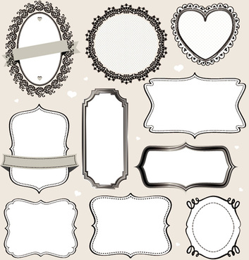 vintage labels frames vectors