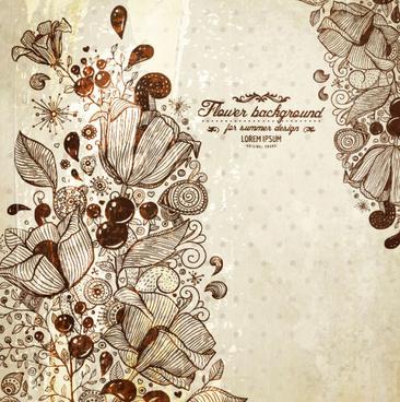vintage lace background vector