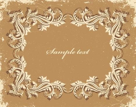 vintage frame template classical seamless curves ornamental