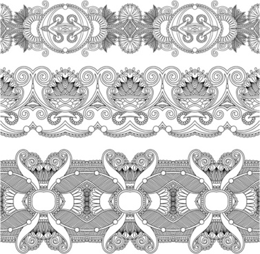 vintage lace ribbons vector