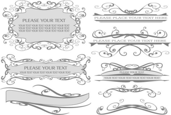 vintage lace vector borders