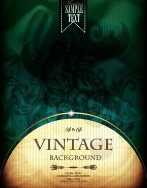 vintage luxury backgrounds vector set