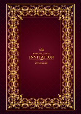 vintage luxury frame design vector set