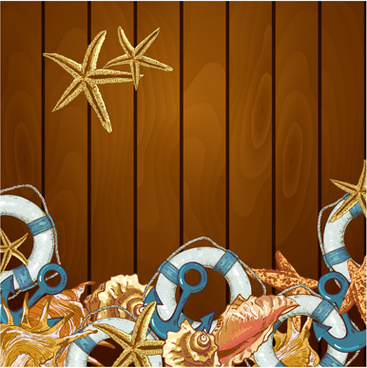 vintage marine style vector backgrounds