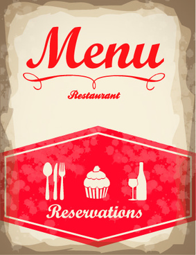 vintage menu covers vector