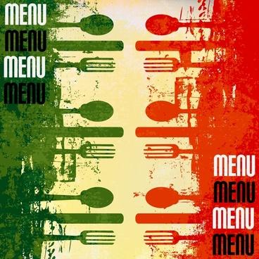 vintage menu vector poster fork