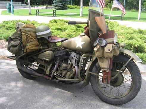 vintage military motorcycle