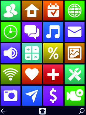 Vintage mobile phone icons
