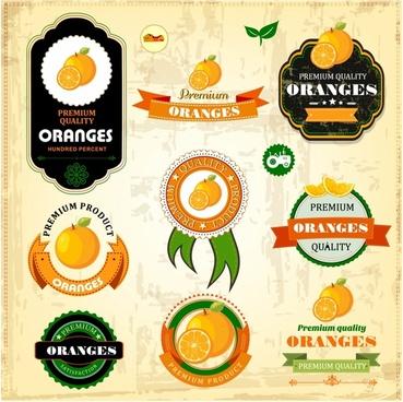 Vintage Oranges Label