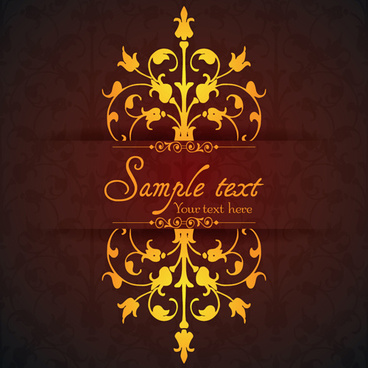 vintage ornamental floral with background vector