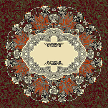 vintage ornate decorative pattern frames vector