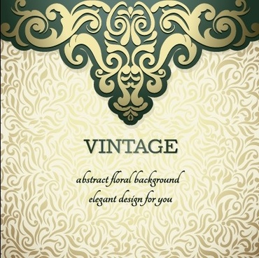 vintage ornate ornaments pattern background art