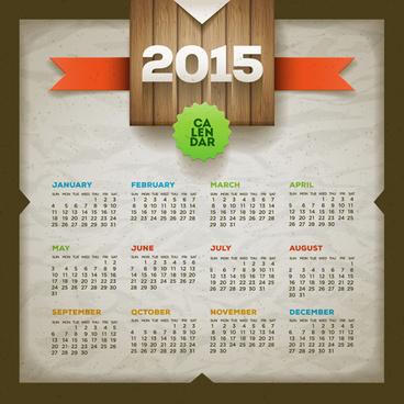 vintage paper15 calendar vector graphics