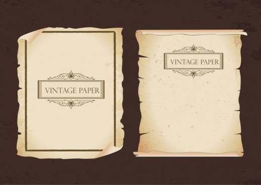 vintage paper icons old torn classical decor