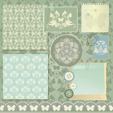 vintage paper with lace vector