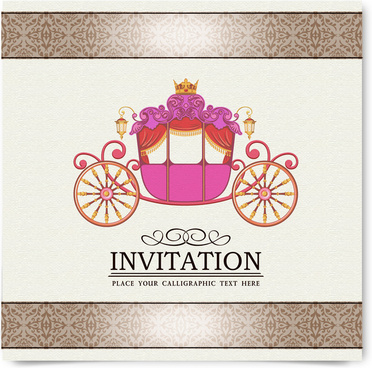 Vintage Party Invitation Card Decor