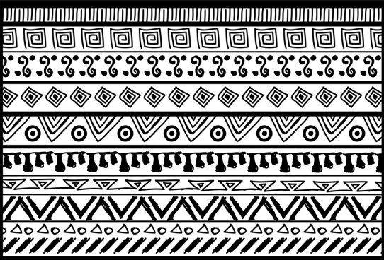 vintage pattern background repeating tribal style decoration