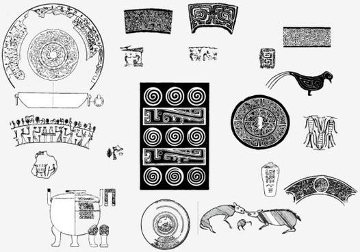 vintage pattern design elements vector