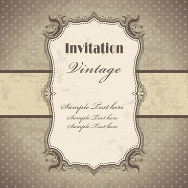 vintage pattern elements background vector