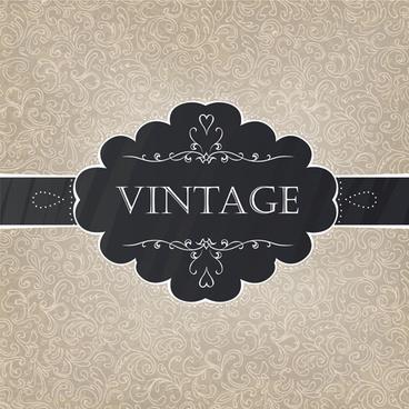 vintage pattern elements background vector