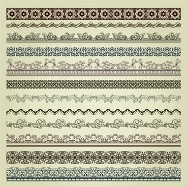 vintage pattern vector borders