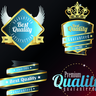 vintage quality and premium labels vector