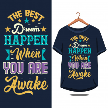 vintage quote motivational typography for t shirt design